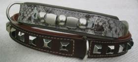 Hundehalsband-Kugelhalsband-Westernstyle-Quadratnieten